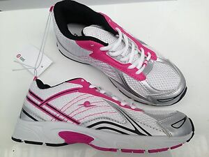 Details about BNWT Older Girls Size 3 Target Lovely Pink White Lace Up  Jogger Athletic Shoes 72c335abf