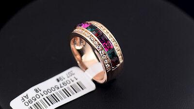 Luxus Verlobungsring Rosè Gold Plattiert (vergoldet) Damen Ring Strass Kristall