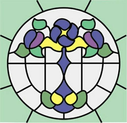 Dollhouse 1//12 Scale Classics Simulated Leadlight Stained Glass Window Insert 20