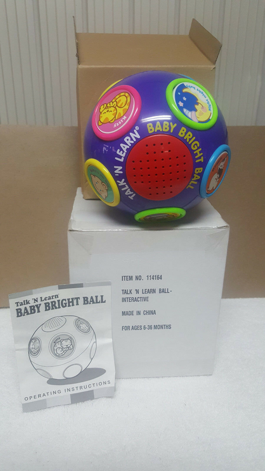 SCIENTIFIC TOYS, INC. TALK 'N 'N 'N LEARN BABY BRIGHT BALL - AGES 6-36 MONTHS   NEW    d3b56e