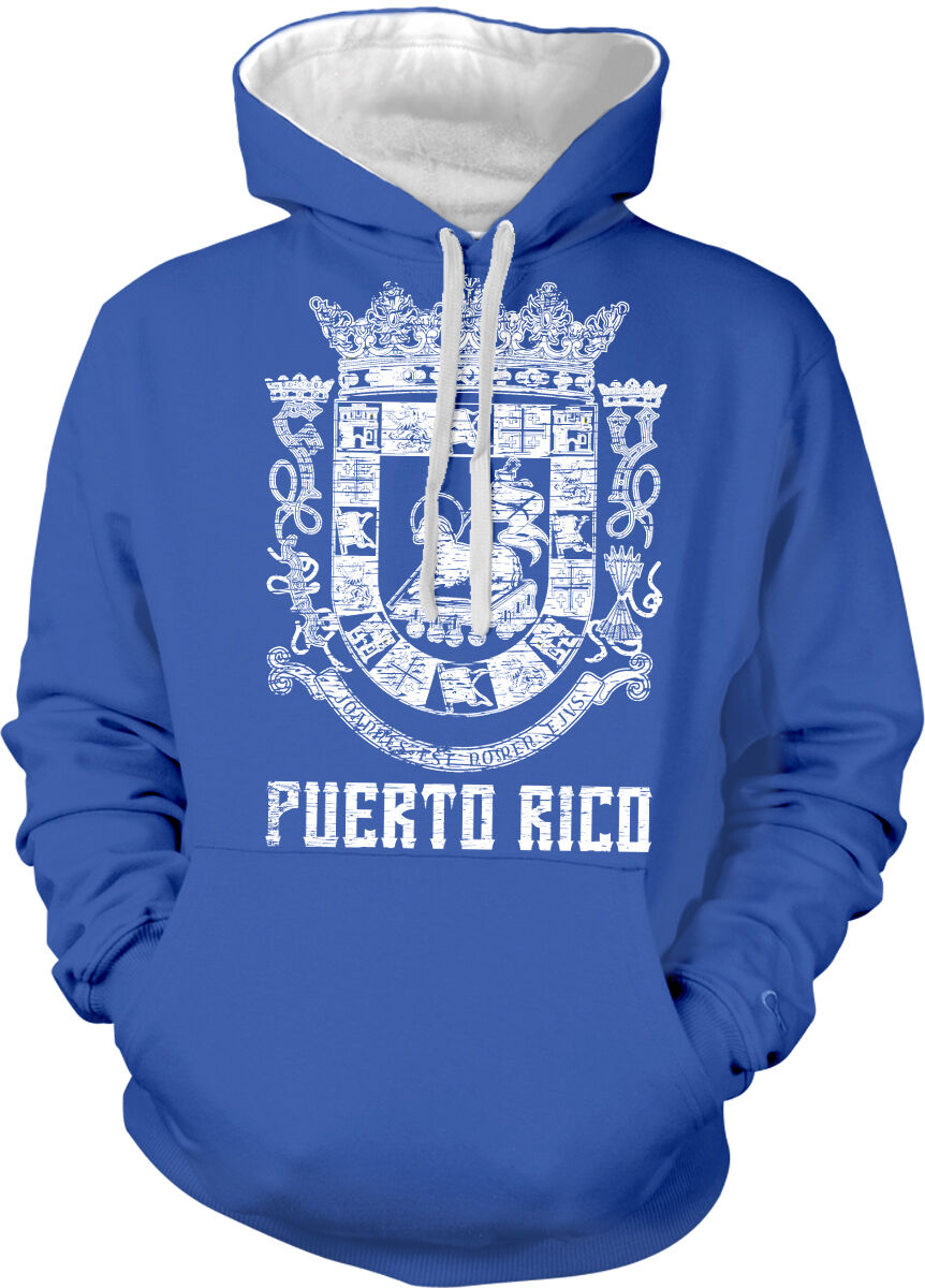 Puerto Rico Symbol Rican Distressed Country Born From Two Tone Hoodie Sweatshirt