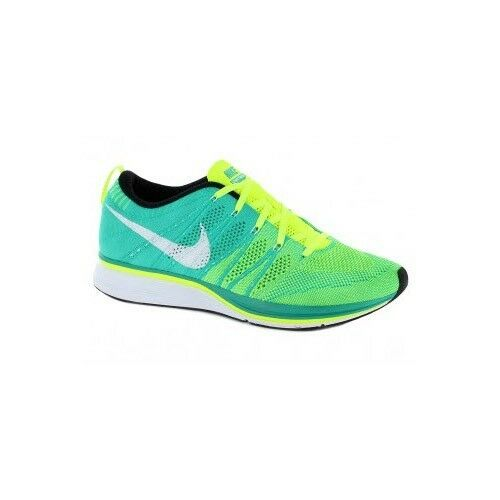 Nike Flyknit Trainer+ Volt White Atomic Teal 532984 713 Multiple sizes Seasonal clearance sale