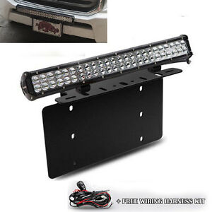 For Toyota 4runner Tacoma 126w Led Light Bar Front License Plate Mount Bracket Ebay