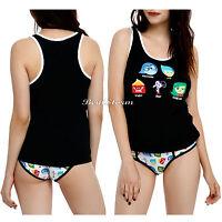 Disney Pixar Inside Out Underwear Tank Top Shirt /hipster Panty Set Jrs. Ladies