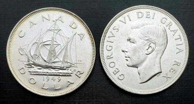 Canada 1949 Newfoundland Commemorative Choice BU UNC MS Silver Dollar!!