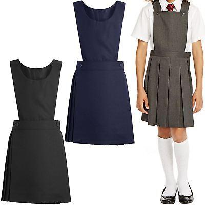 THREADWEAR Girls Bib Pinafore School Uniform