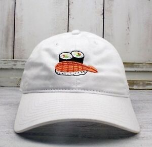 4eb1539fefdc8 Sushi Time Dad Hat Embroidered Baseball Cap Curved Bill 100% Cotton ...
