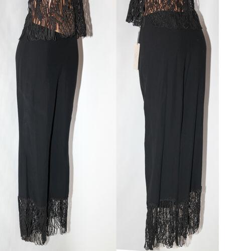 Donna Nero Tg Top Pantalone Completo 42 qUOP7UWS