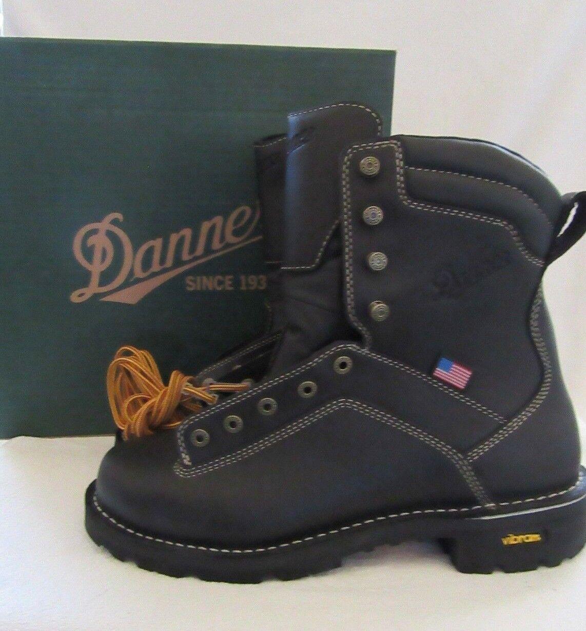 DANNER 17309 Quarry USA Mens nero Leather Work stivali scarpe Dimensione 11 D EU 45 NWB