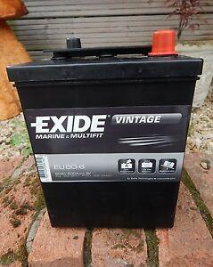 1x brand new exide 421 6 volt 80 ah 600 cca classic car battery mg ta austin 7 ebay. Black Bedroom Furniture Sets. Home Design Ideas