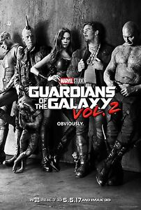 GUARDIANS-OF-THE-GALAXY-2-Original-2-Side-Teaser-Movie-Poster-27x40-SciFi-GOTG