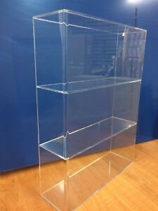 Acrylic-Lucite-Countertop-Display-Case-ShowCase-Box-Cabinet-14-034-w-x-4-1-4-034-x-19-034-h