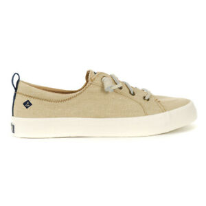Sperry Top-Sider Women's Crest Vibe Washed Linen Boat Shoes STS83179 NEW!