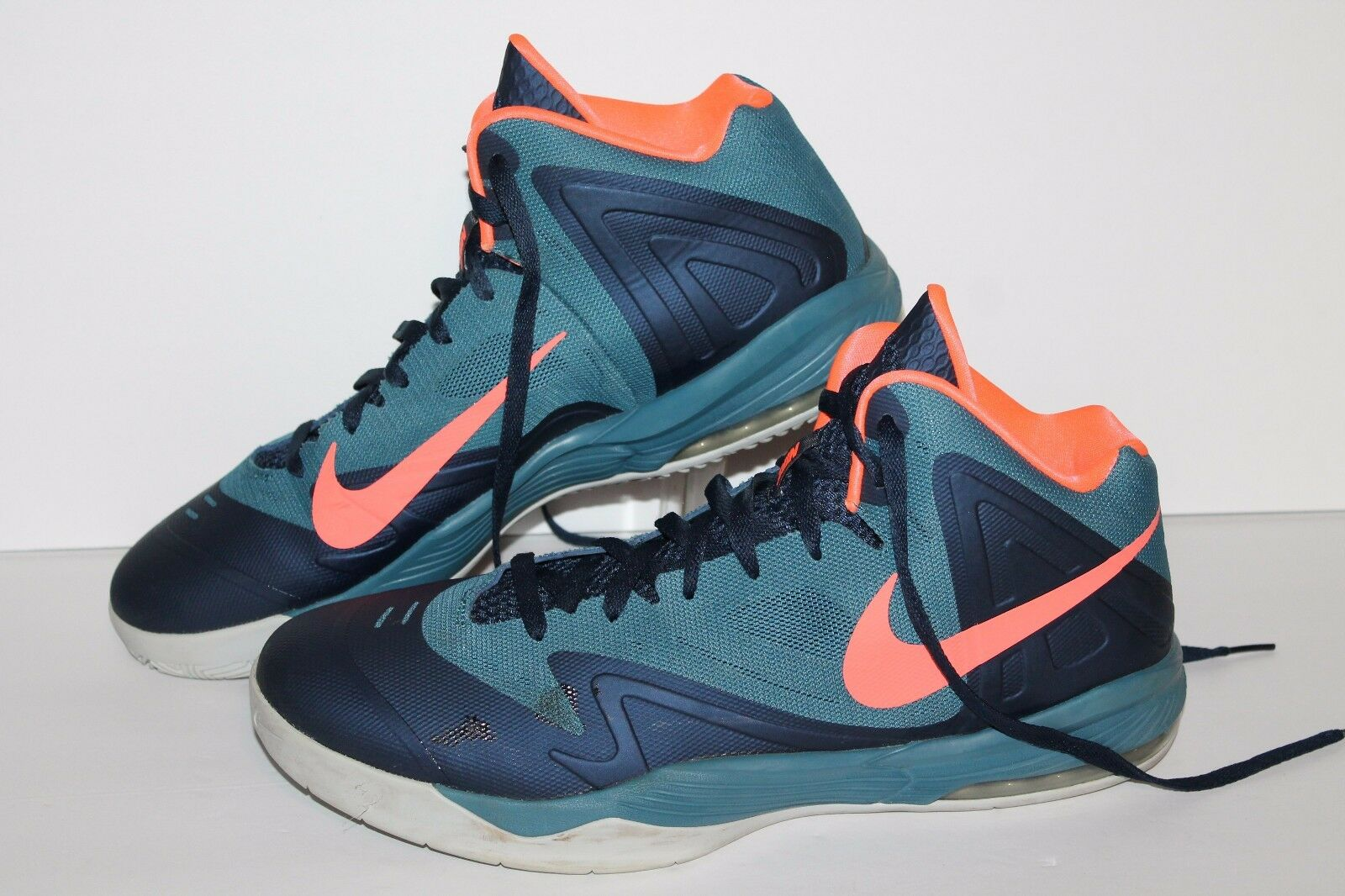 Nike Air Max Premiere Basketball Shoes, Navy/Blue/Mango, Men's 14 Seasonal price cuts, discount benefits