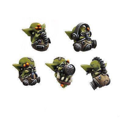 Ork war2 Iron riche 10 têtes avec masques à gaz Ork BITZ Kromlech KRCB 033