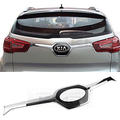 For KIA 11-16 Sportage R Chrome Rear Trunk Emblem Point Cover Garnish Molding