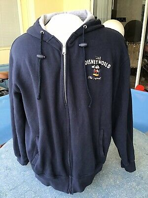 Small Men/'s Mickey Mouse Gray Hooded Sweatshirt Full Zipper NWT Disney Parks