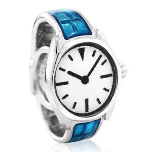 925-Sterling-Silver-European-Style-Fathers-Watch-Bracelet-Bead-Charm