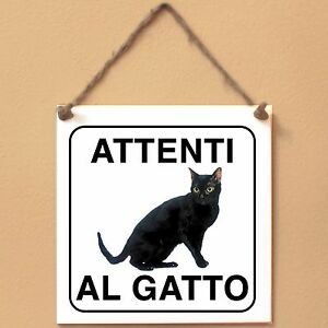 Bombay-americano-1-Attenti-al-gatto-Targa-gatto-cartello-ceramic-tiles