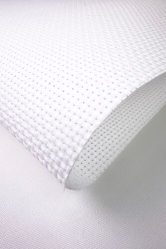 AIDA FABRIC 14 COUNT WHITE VARIOUS SIZES CROSS STITCH FABRIC
