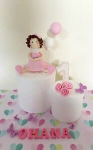 Excellent Edible Little Girl Baby Topper For Girls Birthday Cake Ebay Funny Birthday Cards Online Alyptdamsfinfo