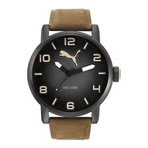 PUMA-reloj-Reloj-De-Pulsera-Reloj-De-Hombre-Alternativa-ROUND-Cuero-pu104141004