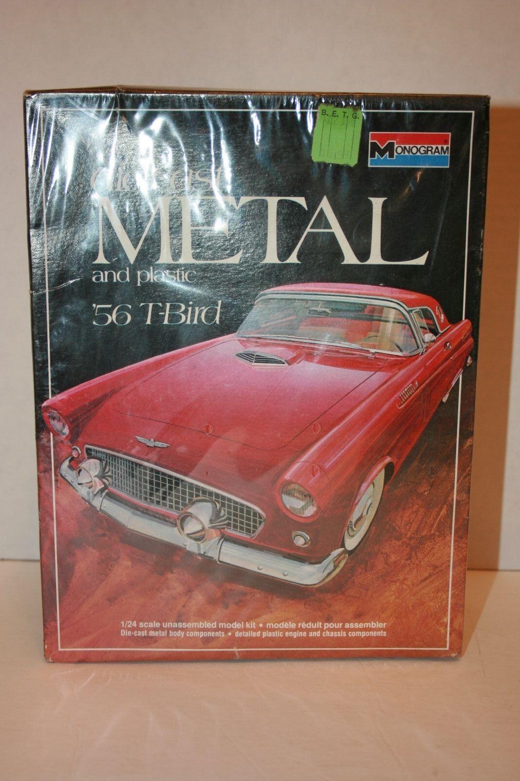 Monogram Die-Cast Metal and Plastic 56' T-Bird 1 24 scale model kit Sealed