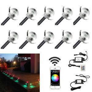 Details Zu 10er Set Wifi Kontroller Rgb Led Einbaustrahler Terrasse Einbauleuchte Aussenlamp
