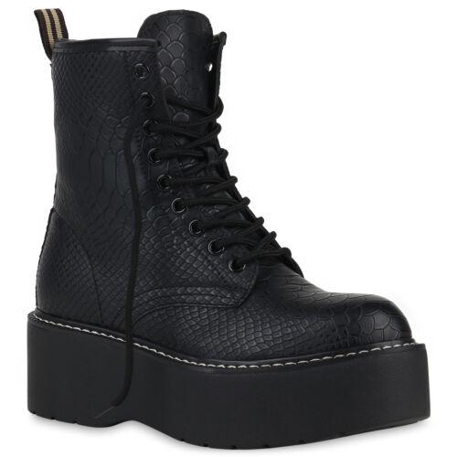Damen Stiefeletten Plateau Boots Gefütterte Stiefel Wedges 832099 Schuhe