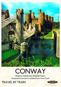 Vintage Style Railway Poster Holyhead A4//A3//A2 Print