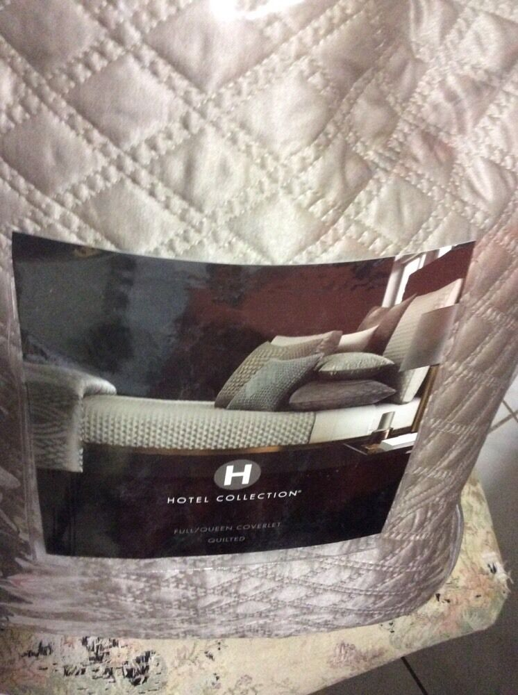 Hotel Collection Full Queen Coverlet Set With One Euro Pillow