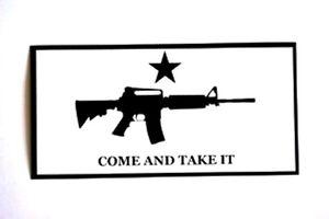 COME-AND-TAKE-IT-White-Background-VINYL-BUMPER-STICKER-DECAL-Pro-2nd-Amendment