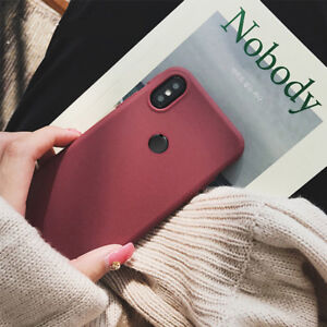 For Xiaomi Redmi Note 6 Pro 5 Shockproof Soft TPU Sandstone Matte Case Cover