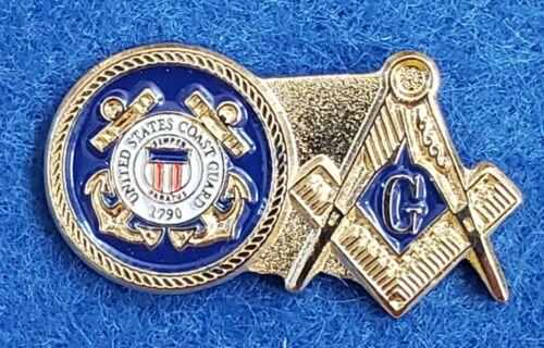 USCG Details about  /United States Coast Guard Masonic Lapel Pin Mason Military