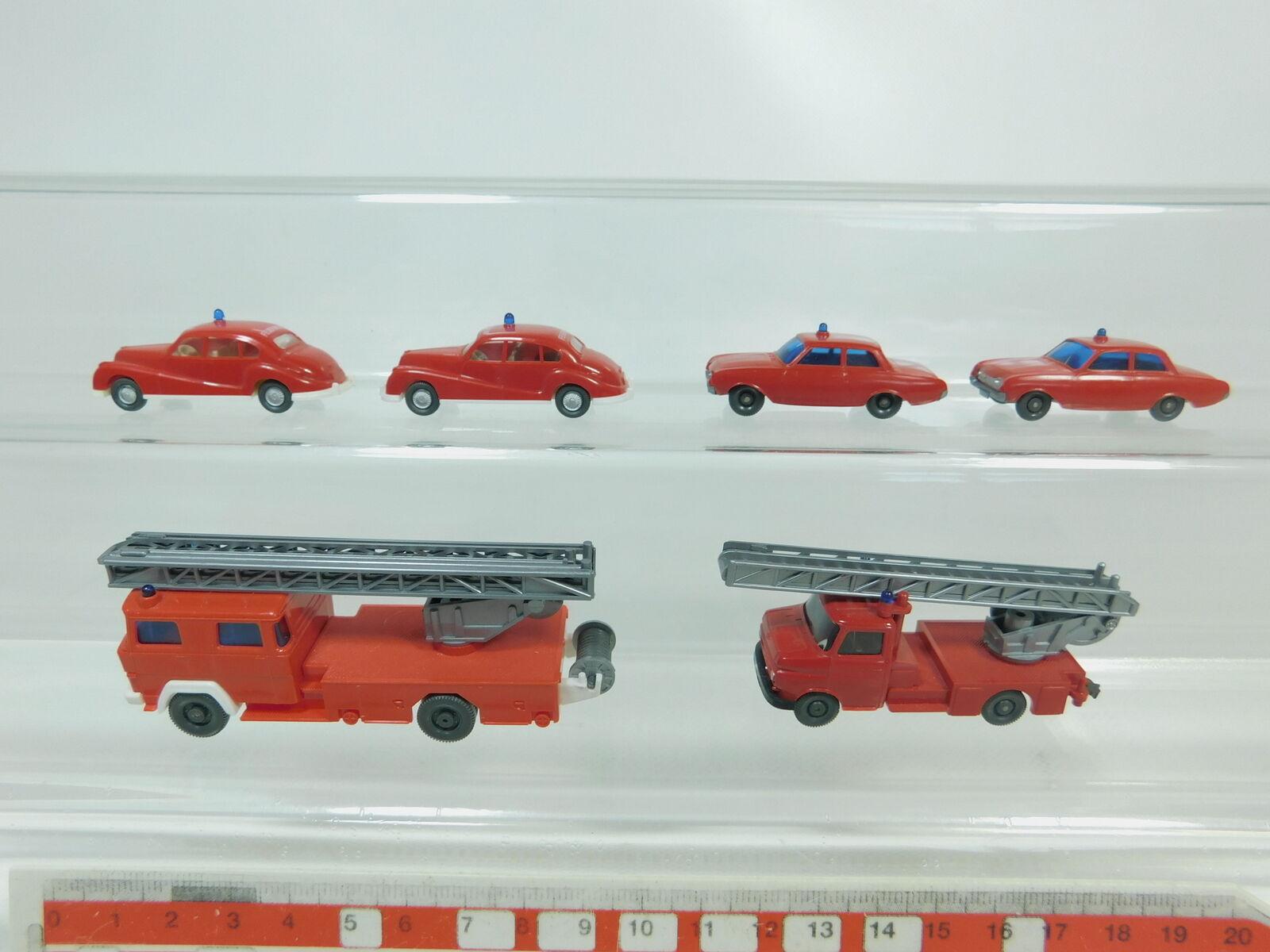 Bk45-0, 5 X Wiking H0   1 87 FIRE BRIGADE  FW  BMW 501+ Opel + Magirus Deutz