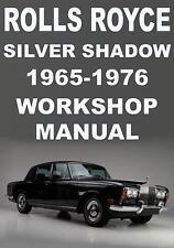 ROLLS ROYCE SILVER SHADOW 1965-1976 WORKSHOP MANUAL