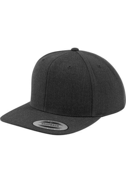 0fd109ad807 The Classics Snapback Yupoong Dark Grey Hat Cap Unisex Straight Peak ...