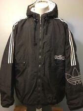 Mens adidas Neo Coated S90298 Black Winter Zip Parka Jacket