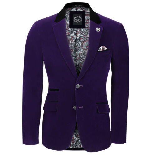 Blazer pezzi uomo vintage da a velluto Tuxedo in Gilet Coat 3 Tuta 6zUWO7w
