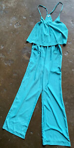 Zoa New York Tank Jumpsuit Green SMALL NWOT $149