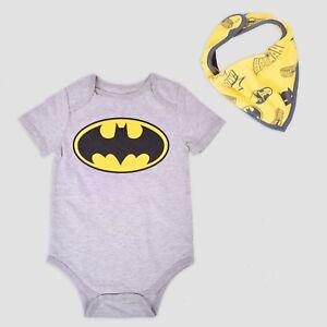 756d87b14 Batman Baby Boy 6 9 12 Months Bodysuit & Bib Set Clothes | eBay