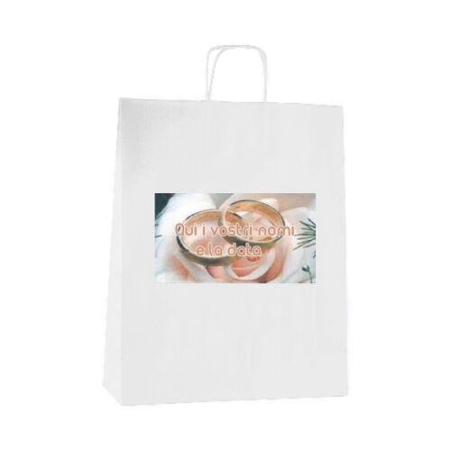 50 Wedding Bags personalizzate sacchetti bomboniere 18824 ARES 32 OMAGGI