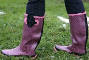 Gummistiefel-Rain-Boots-Sweet-Chilli-Pink-schwarz-kariert-Freizeit-Urlaub-Strand