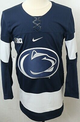 online store b2a9a 33e02 Penn State Nittany Lions Navy Nike Authentic Ice Hockey Jersey Men's M