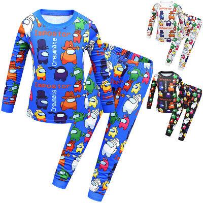 UK New Kids Boys Game Among US Pyjamas Night Wear PJ Set Sleeping Pajamas Sets