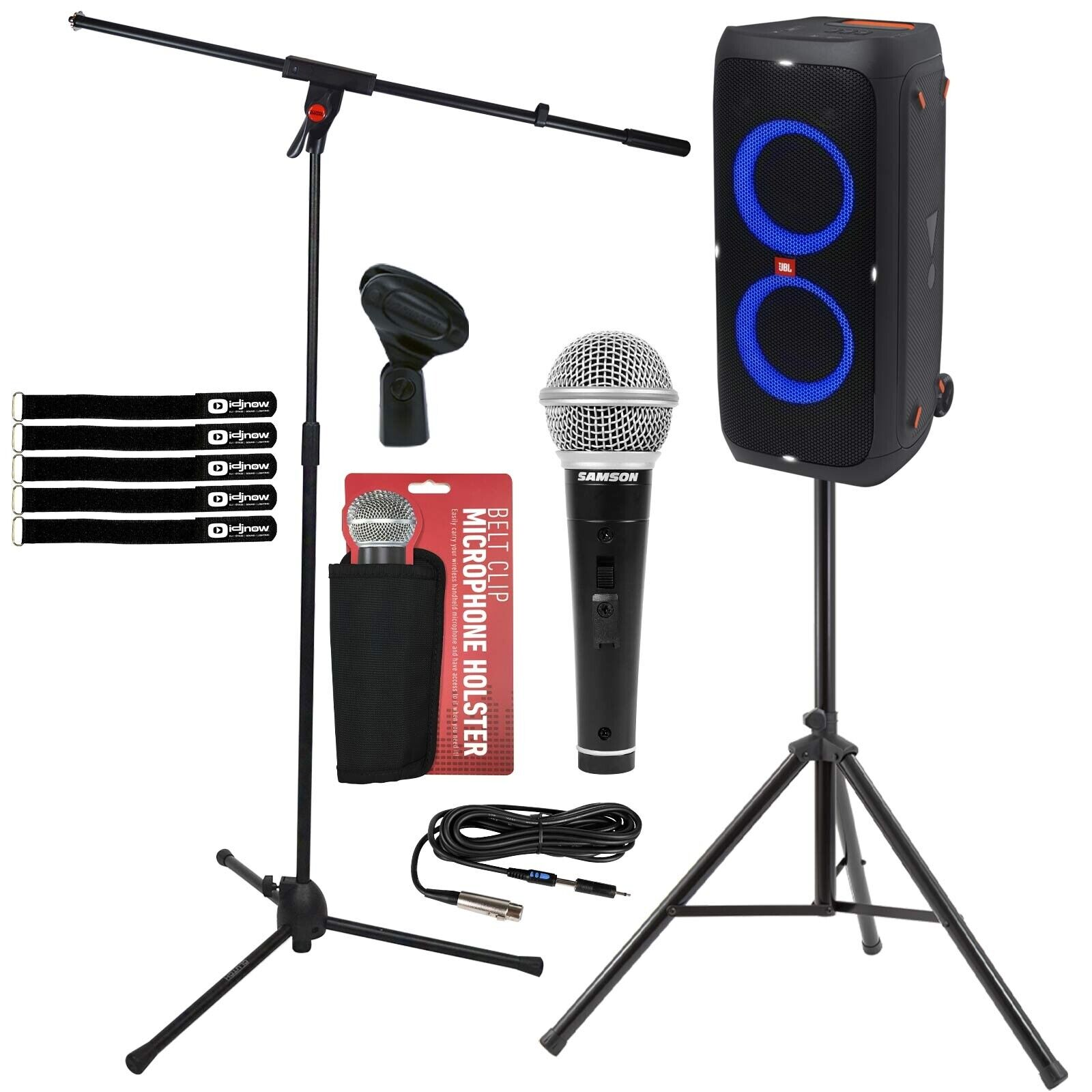 JBL Partybox 310 Rechargeable Bluetooth LED Karaoke Party Speaker w Stand & Mic. Buy it now for 605.60