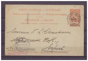 Belgique-Entier-Postal-Charleroi-Station-apres-Erfurt-03-02-1900