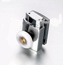 2 x Single parte inferior de aleación de zinc Puerta de ducha rollers/runners 25 Mm Ruedas Dia L070
