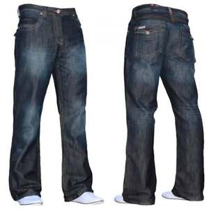 BNWT-NEW-MENS-DESIGNER-BOOTCUT-FLARED-LEG-DENIM-JEANS-ALL-WAIST-amp-SIZES-BNWT