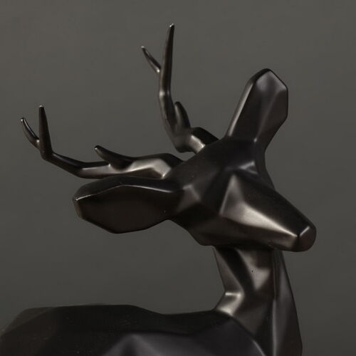 Dekofiguren Dekoobjekt aus Porzellan liegende Hirsche 2-er Set Höhe 23/&16cm